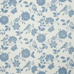 bird garden denim wallpaper