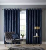 navarra indigo  90 x 90 curtains