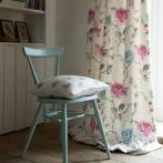 Agatha aquaAt curtains fabric available from our fabric range