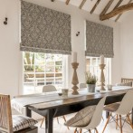 roman blind fabric harewood charcoal