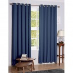daytona blackout eyelet curtains denim