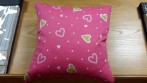 pink hearts cushion