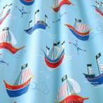 pirate  fabric blue