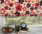 roller blind fab red