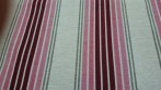 BC 108ins wide red stripe fabric
