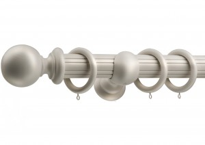 winter white reeded side with countess finial